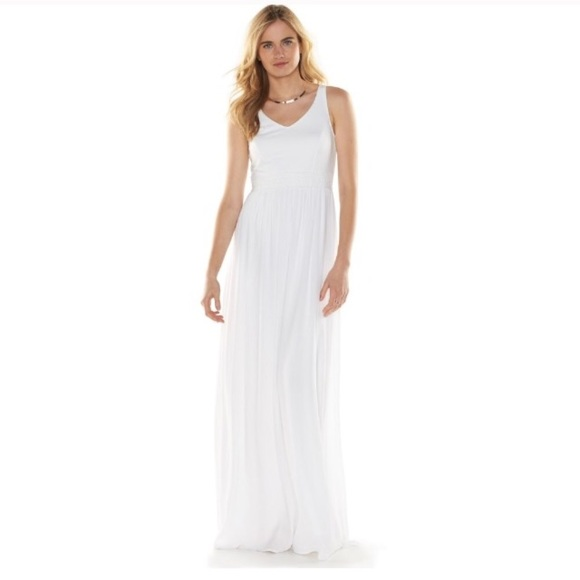 15aac83fd9c LC Lauren Conrad Dresses   Skirts - LC Lauren Conrad White V Neck Crochet Maxi  Dress